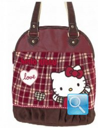 Borsa Round Shopper Campus Hello Kitty L Red