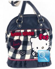 Borsa Round Shopper Campus Hello Kitty M Blue