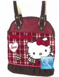 Borsa Round Shopper Campus Hello Kitty M Red