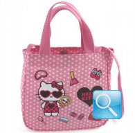 borsa hello kitty S con tracolla dotty d.pink