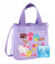 borsa hello kitty S con tracolla dotty lilac