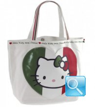 Borsa Shopper Giramondo Italia Hello Kitty - M - Bianco