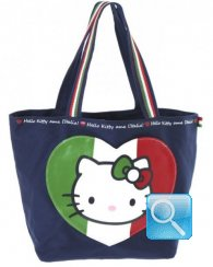 Borsa Shopper Giramondo Italia Hello Kitty - M - Blue
