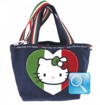 Borsa Shopper Giramondo Italia Hello Kitty - S - Blue