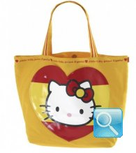 Borsa Shopper Giramondo Spagna Hello Kitty - L - Giallo