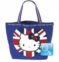Borsa Shopper Giramondo Uk Hello Kitty - L - Blue