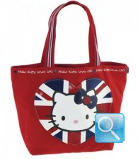 Borsa Shopper Giramondo Uk Hello Kitty - M - Rossa