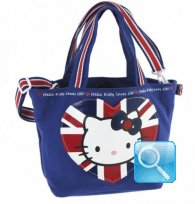 Borsa Shopper Giramondo Uk Hello Kitty - S - Blue