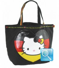 Borsa Shopper Giramondo Germania Hello Kitty - L - Nera