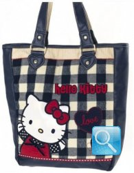 Borsa Sporta Campus Hello Kitty Blue
