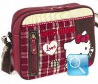 Borsa Tracolla Campus Hello Kitty Red