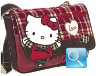 Borsa Tracolla W/FLAP Campus Hello Kitty Red