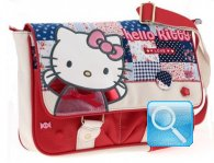 Borsa Tracolla W/FLAP Love Hello Kitty Rossa
