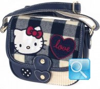 Borsa Tracollina Campus Hello Kitty Blue