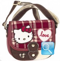 Borsa Tracollina Campus Hello Kitty Red