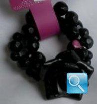 bracciale camomilla S glitter flower black