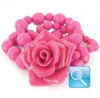 bracciale camomilla s glitter flower fucsia