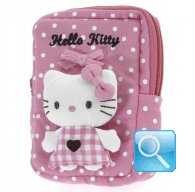 Pochette Busta Portatutto Hello Kitty S pink &brown