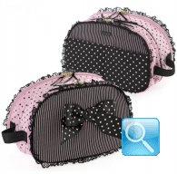 busta trucco camomilla black&pink