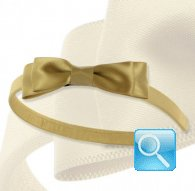 cerchietto camomilla ribbon satin beige