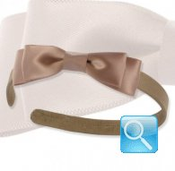 cerchietto camomilla ribbon satin l.brown