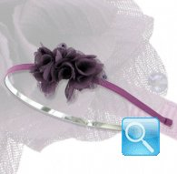 cerchietto camomilla veil flower purple