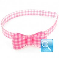 cerchietto camomilla bow wow check  pink