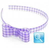 cerchietto camomilla bow wow check  purple