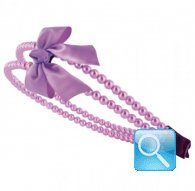 cerchietto camomilla double pearl&bow purple