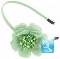 cerchietto camomilla flower stone green