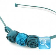 cerchietto camomilla m rose satin blue