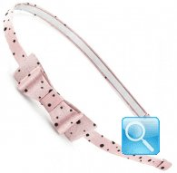 cerchietto camomilla mini papillon pois pink