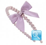 cerchietto camomilla  pearl&bow dark pink