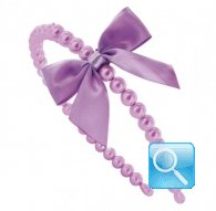 cerchietto camomilla  pearl&bow purple