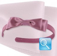 cerchietto camomilla ribbon satin purple