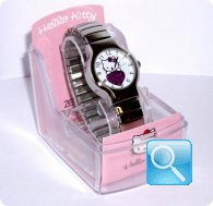 orologio hello kitty round espander bianco