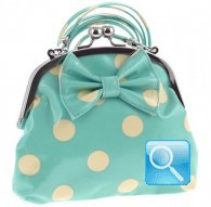 borsa camomilla clutch bag bubbles verde acqua