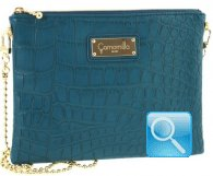 pochette camomilla milano clutch bag -M- turquoise