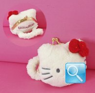Portamonete Coin Purse Kitty Marshmallow red