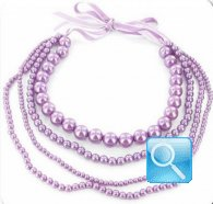collana camomilla milano pearl falls light purple