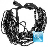 collana camomilla juicy crystal black