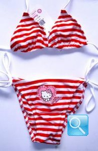 costume hello kitty bambina 3-4 anni b/r