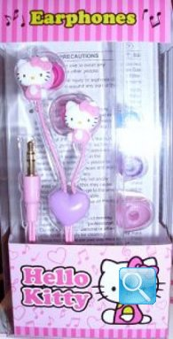 auricolari a forma di hello kitty colore rosa