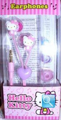 auricolari a forma di hello kitty colore rosa
