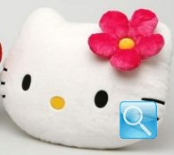 Cuscino Peluche testa Hello Kitty fiore