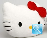 Cuscino Peluche testa Hello Kitty