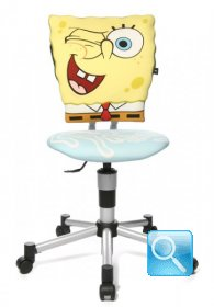 sedia spongebob in 3d con ruote girevoli