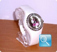 orologio hello kitty silicon diamante bianco