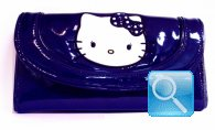portafoglio hello kitty blu