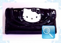 portafoglio hello kitty nero